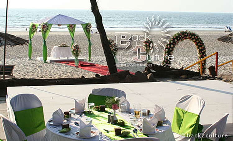 beach wedding ceremony in goa